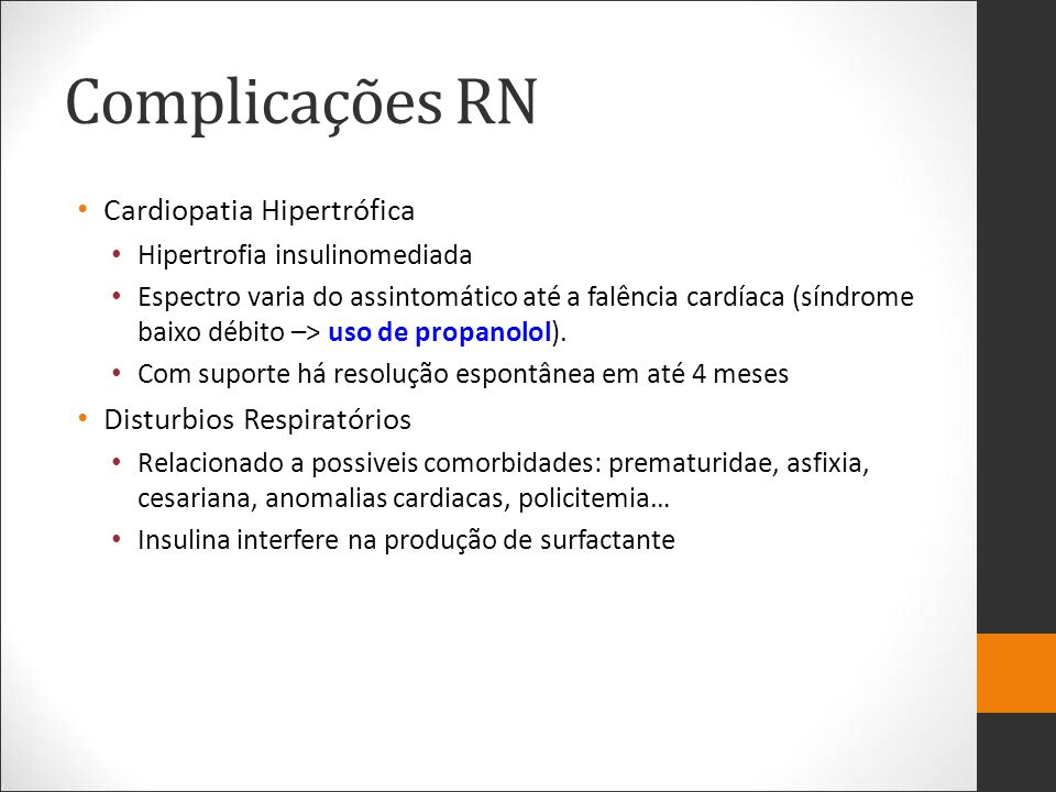 Complicações RN Cardiopatia Hipertrófica Disturbios Respiratórios