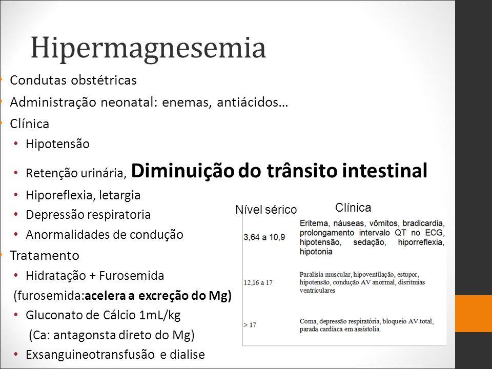 Hipermagnesemia Condutas obstétricas