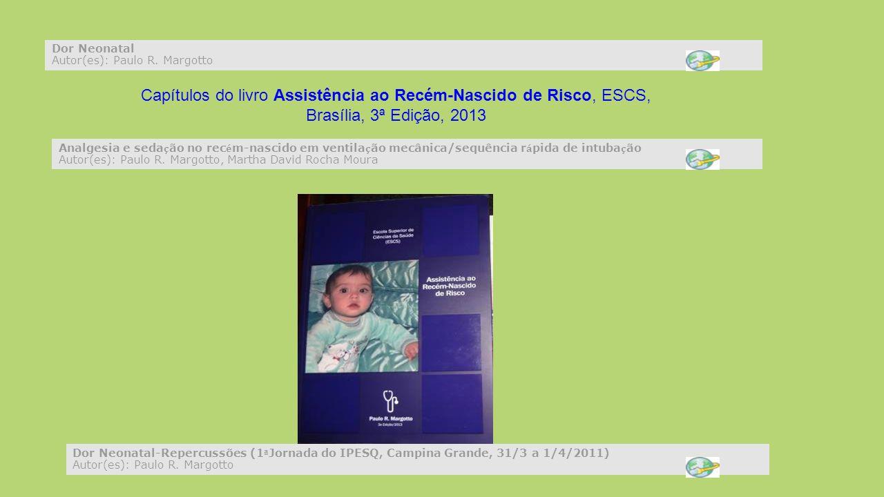 Capítulos do livro Assistência ao Recém-Nascido de Risco, ESCS,