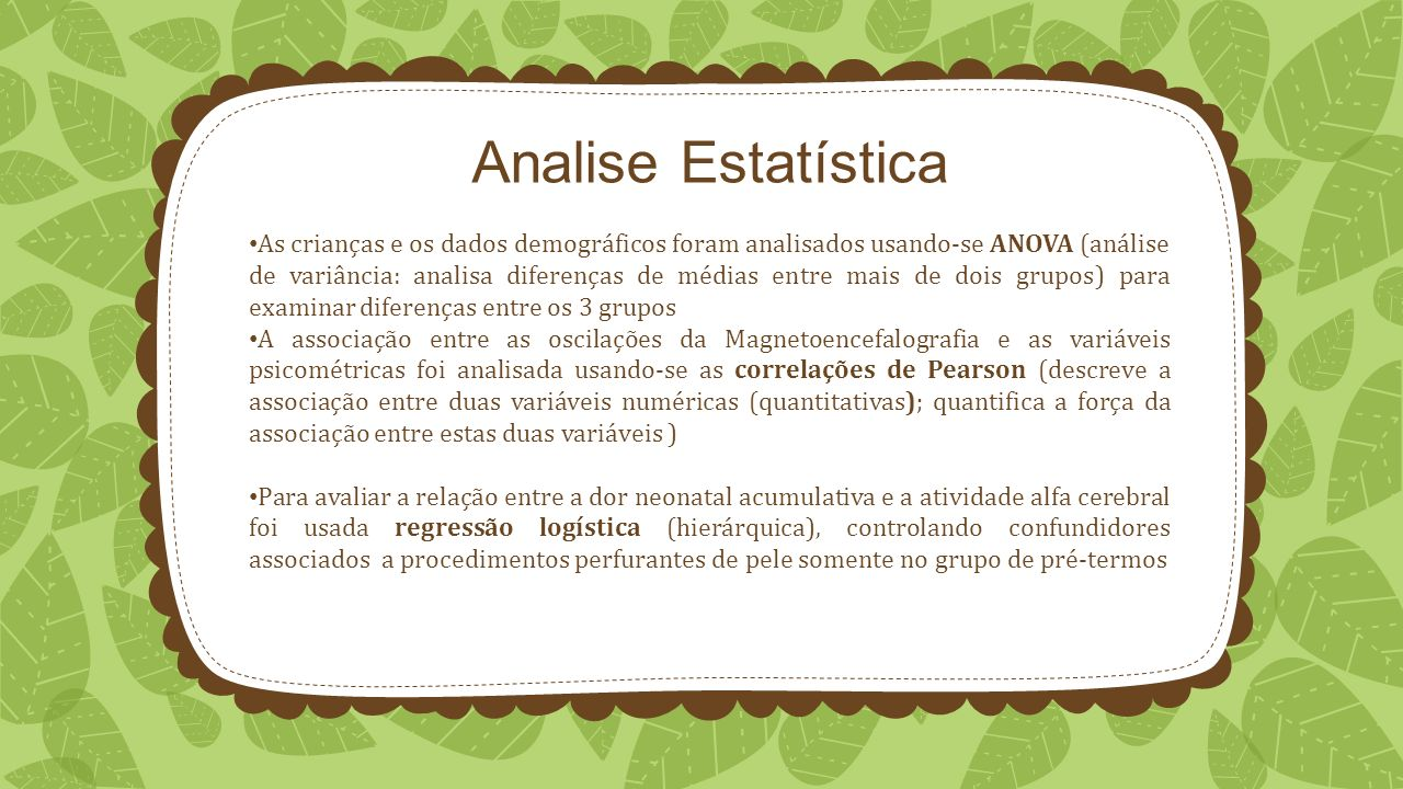 Analise Estatística