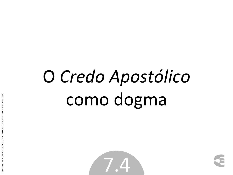 O Credo Apostólico como dogma