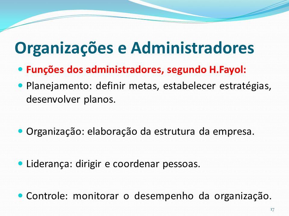 Organizações e Administradores