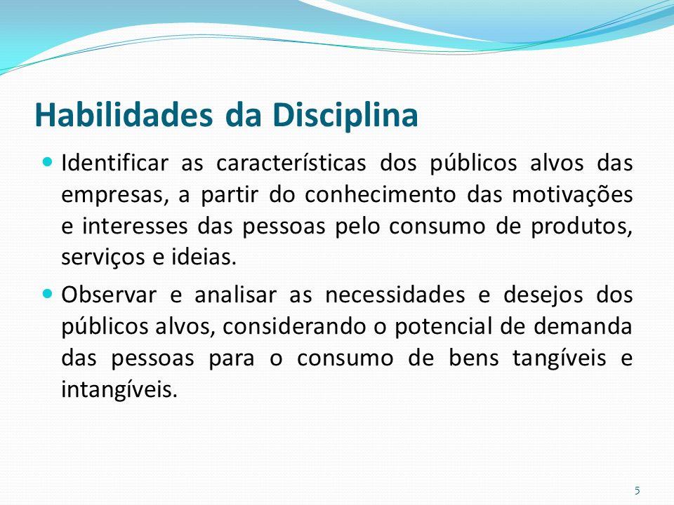 Habilidades da Disciplina