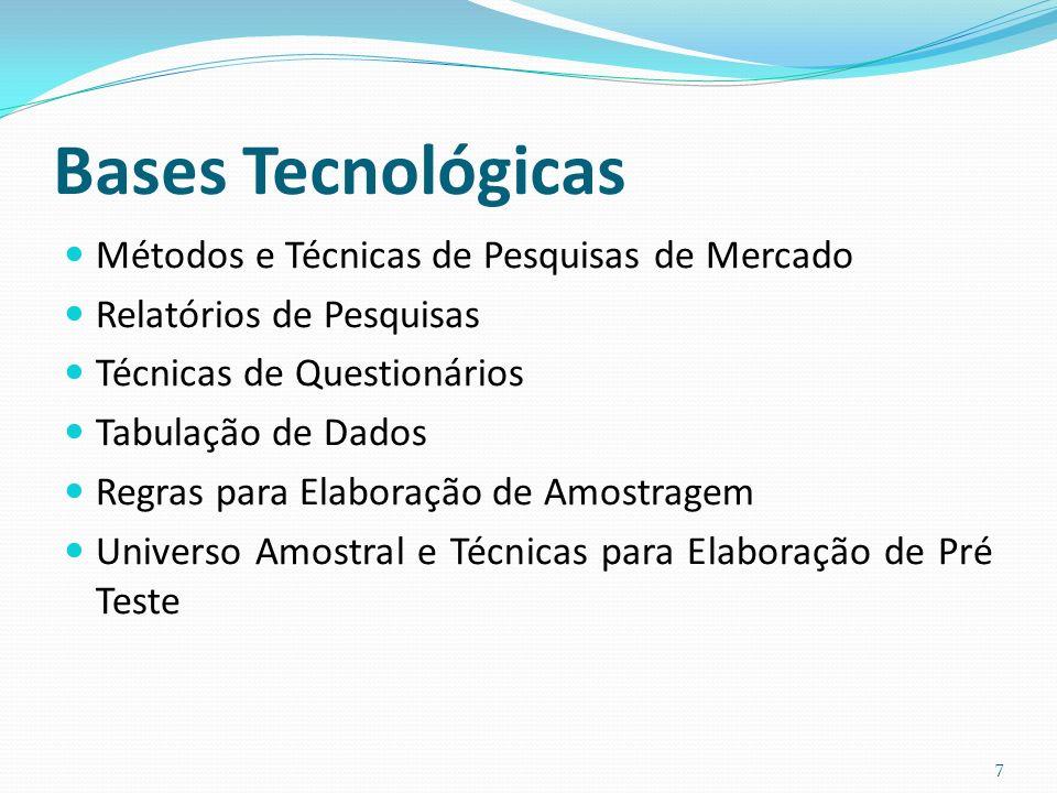 Bases Tecnológicas Métodos e Técnicas de Pesquisas de Mercado