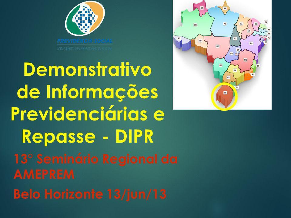 Demonstrativo de Informações Previdenciárias e Repasse - DIPR