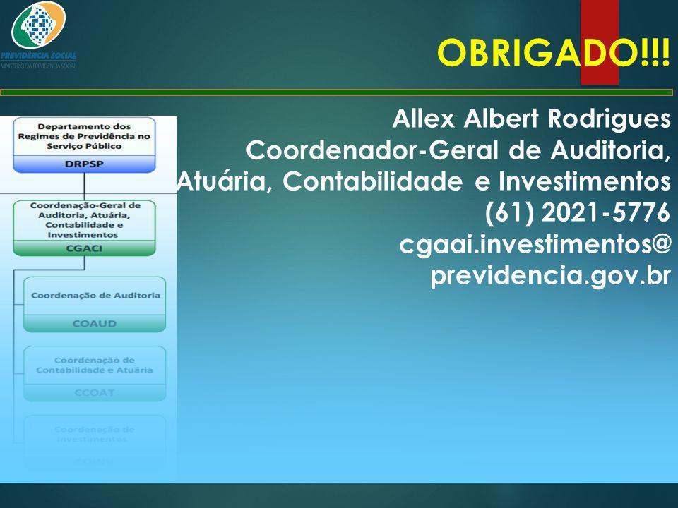 OBRIGADO!!! Allex Albert Rodrigues