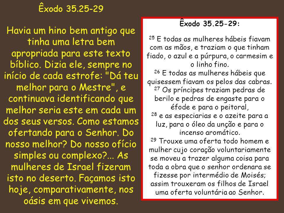 Êxodo 35.25-29