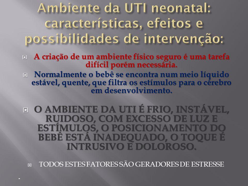 TODOS ESTES FATORES SÃO GERADORES DE ESTRESSE