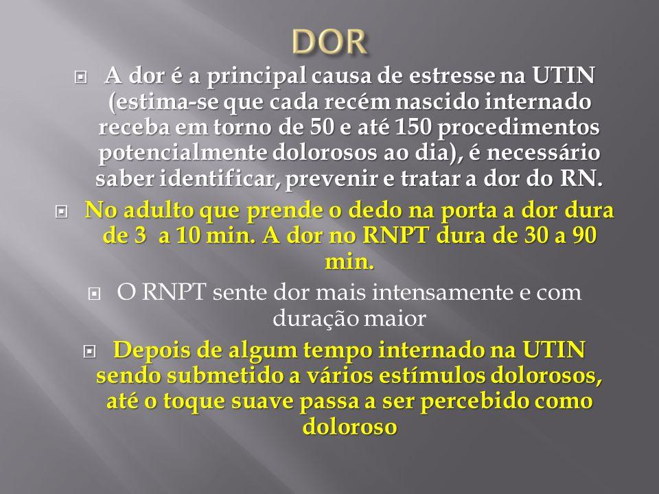 O RNPT sente dor mais intensamente e com duração maior