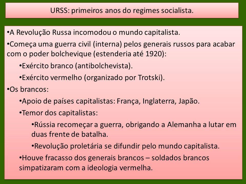 URSS: primeiros anos do regimes socialista.