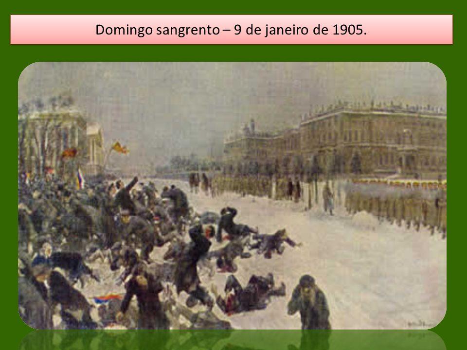 Domingo sangrento – 9 de janeiro de 1905.