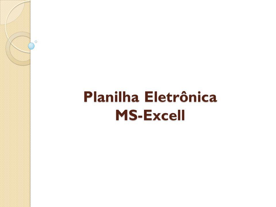 Planilha Eletrônica MS-Excell