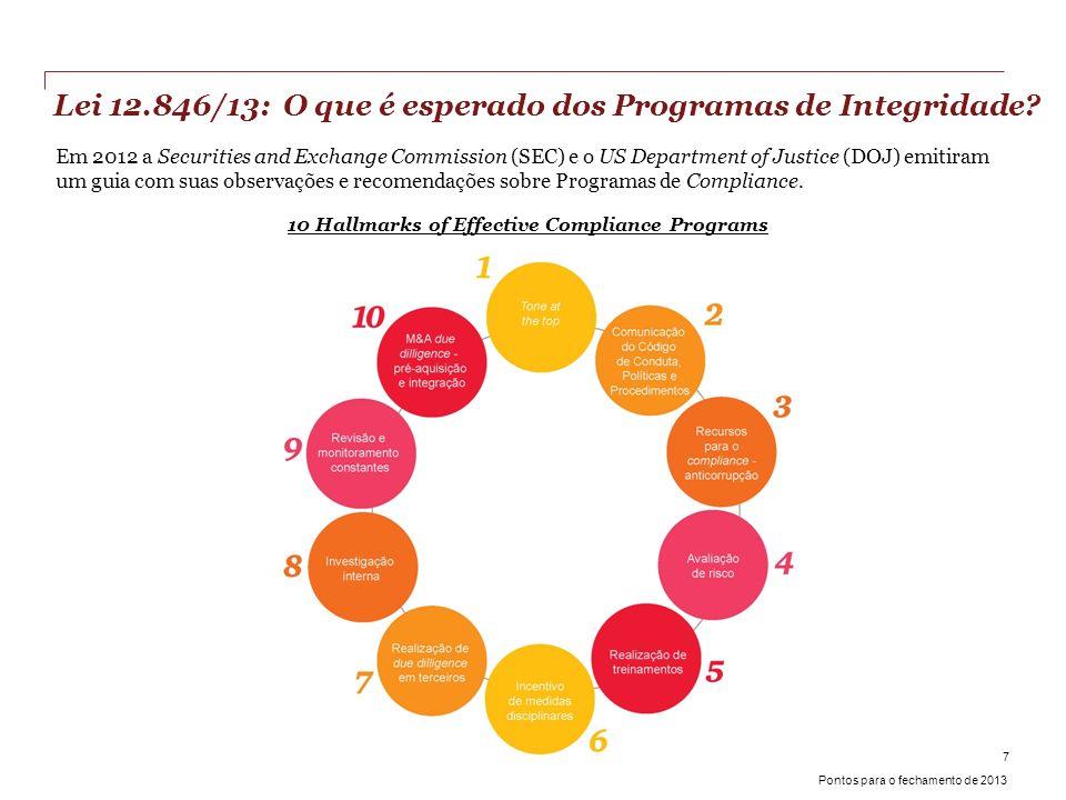 Lei 12.846/13: O que é esperado dos Programas de Integridade