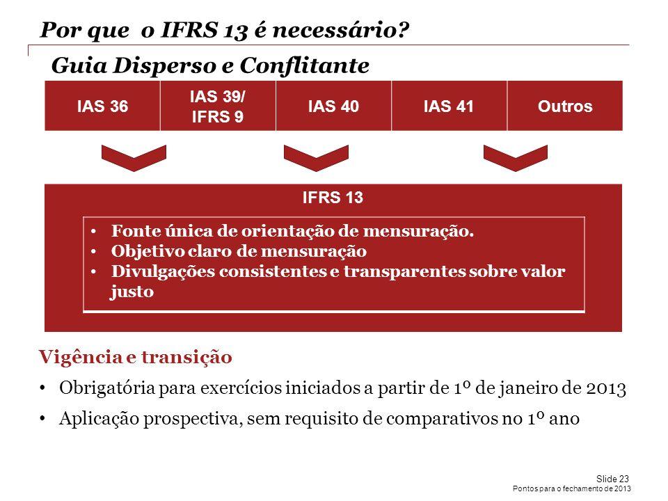 Por que o IFRS 13 é necessário