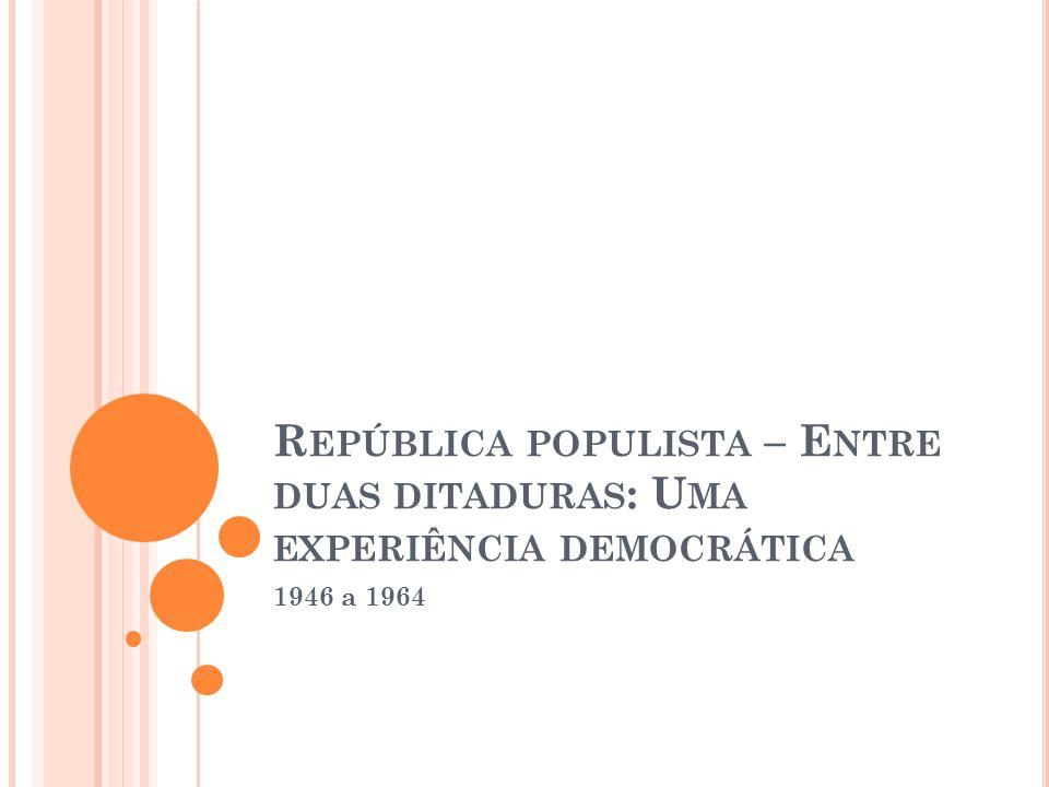 República populista – Entre duas ditaduras: Uma experiência democrática