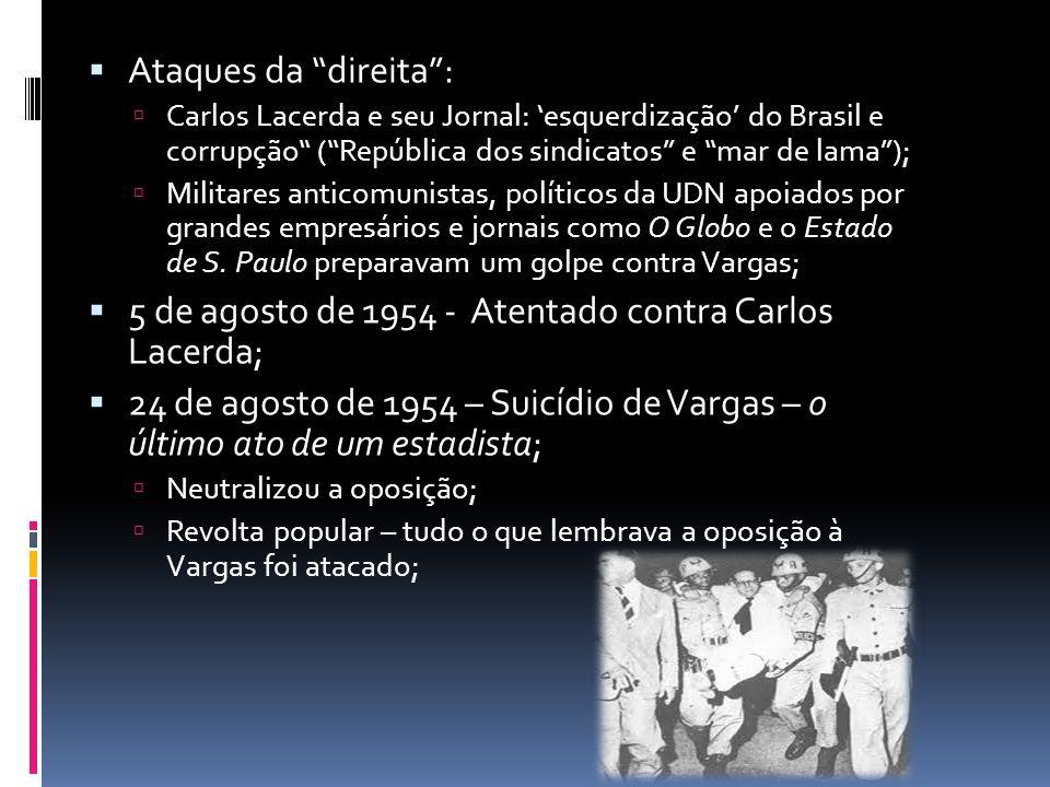 5 de agosto de 1954 - Atentado contra Carlos Lacerda;