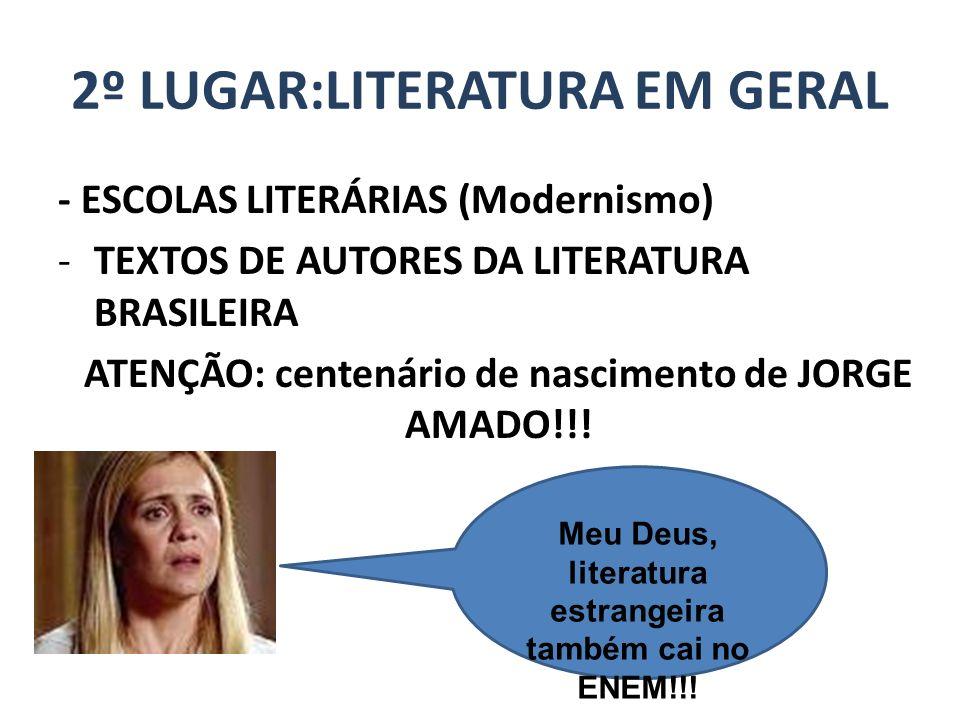 2º LUGAR:LITERATURA EM GERAL
