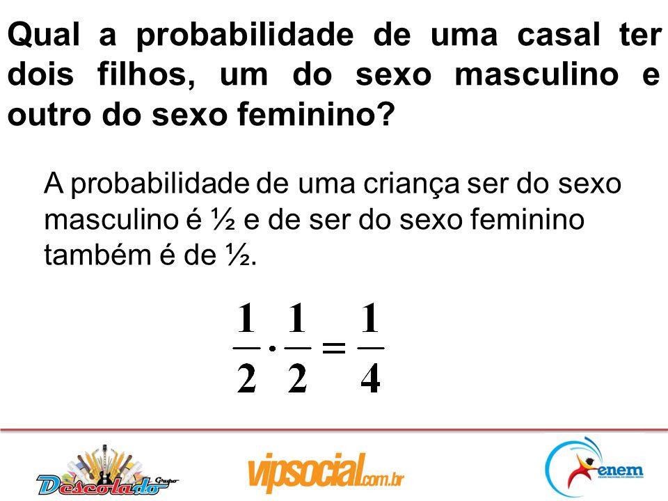 Qual a probabilidade de uma casal ter dois filhos, um do sexo masculino e outro do sexo feminino