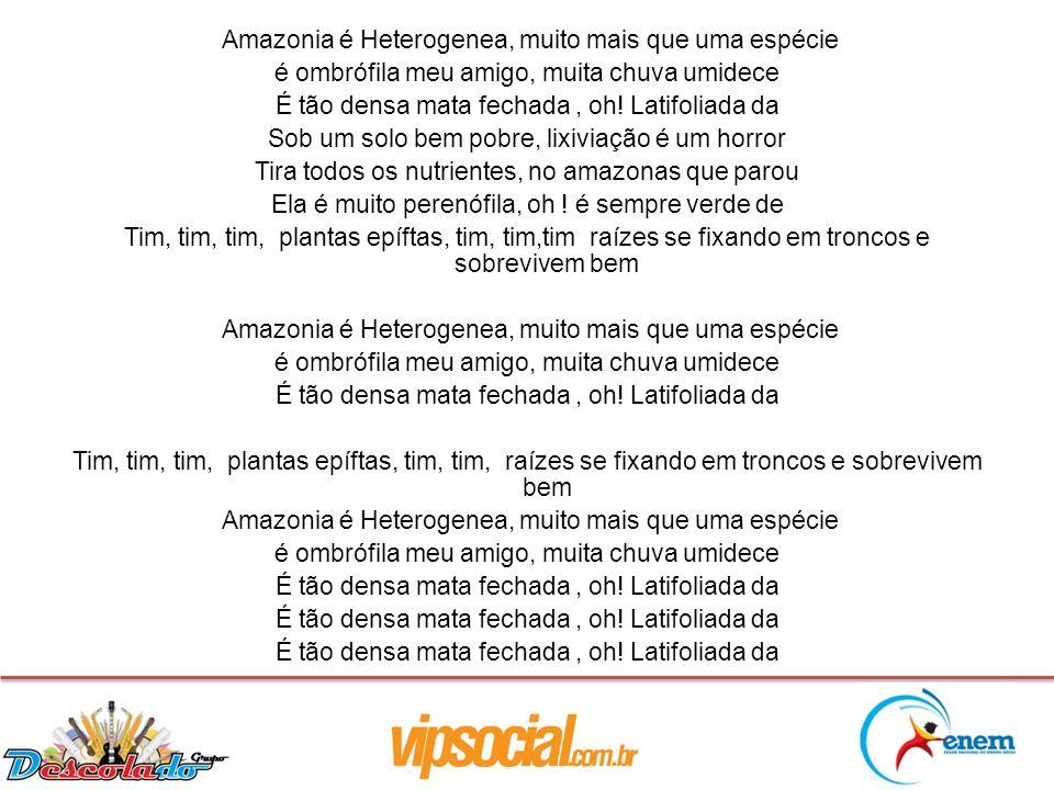 Amazonia é Heterogenea, muito mais que uma espécie