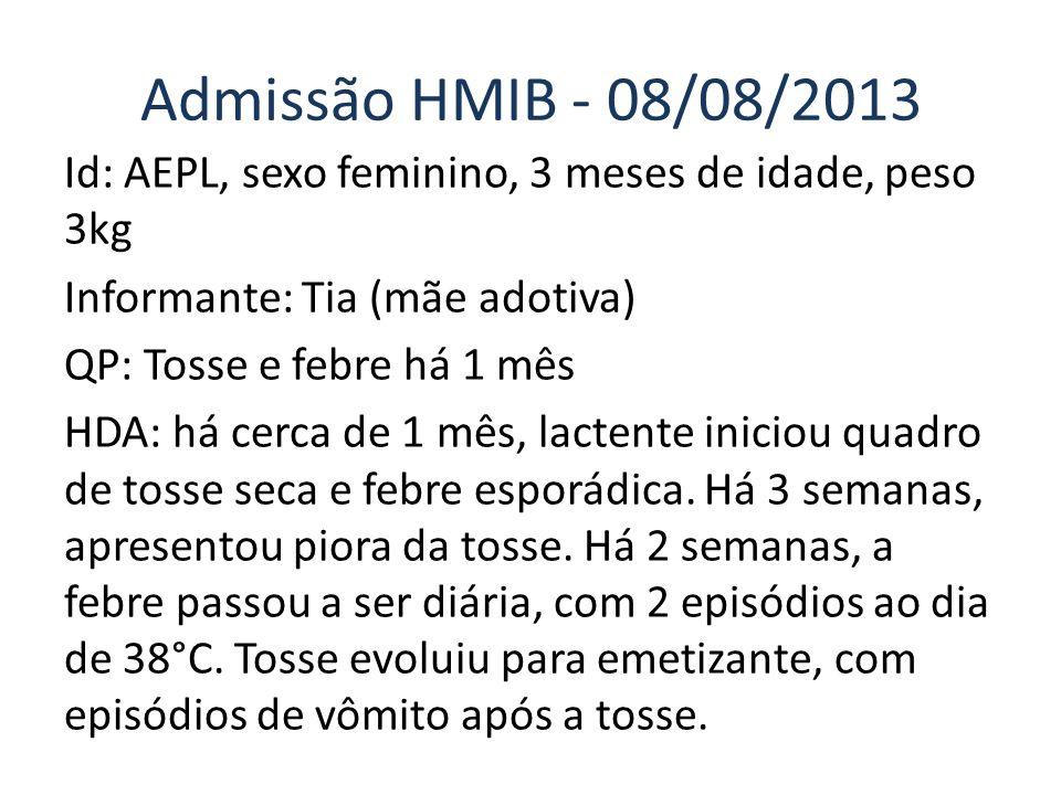 Admissão HMIB - 08/08/2013