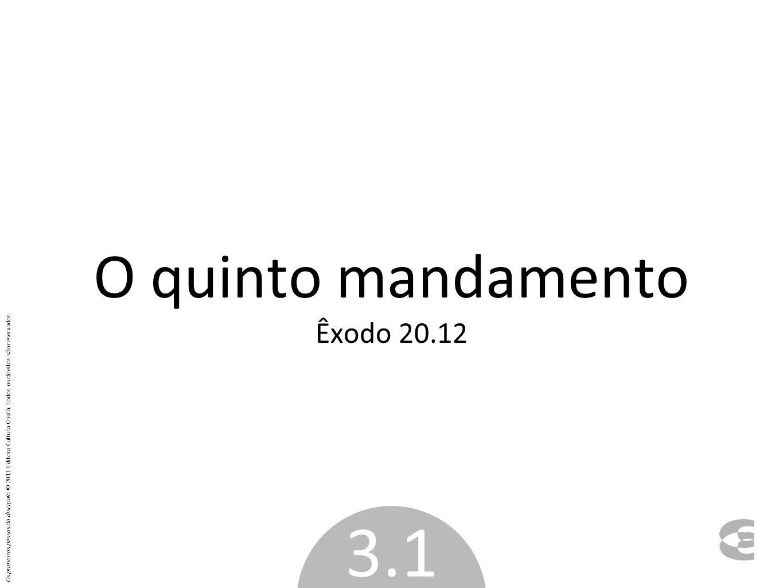 O quinto mandamento Êxodo 20.12
