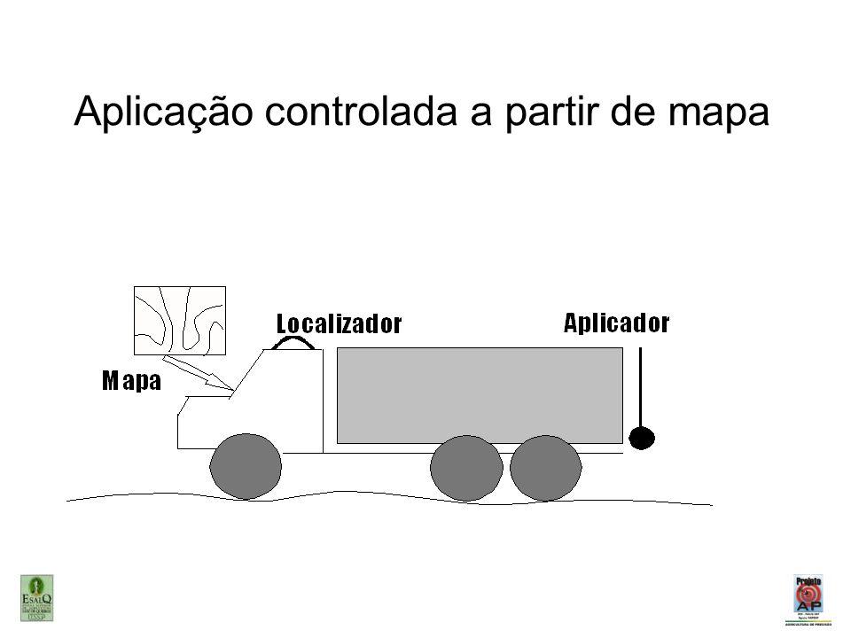 Aplicação controlada a partir de mapa