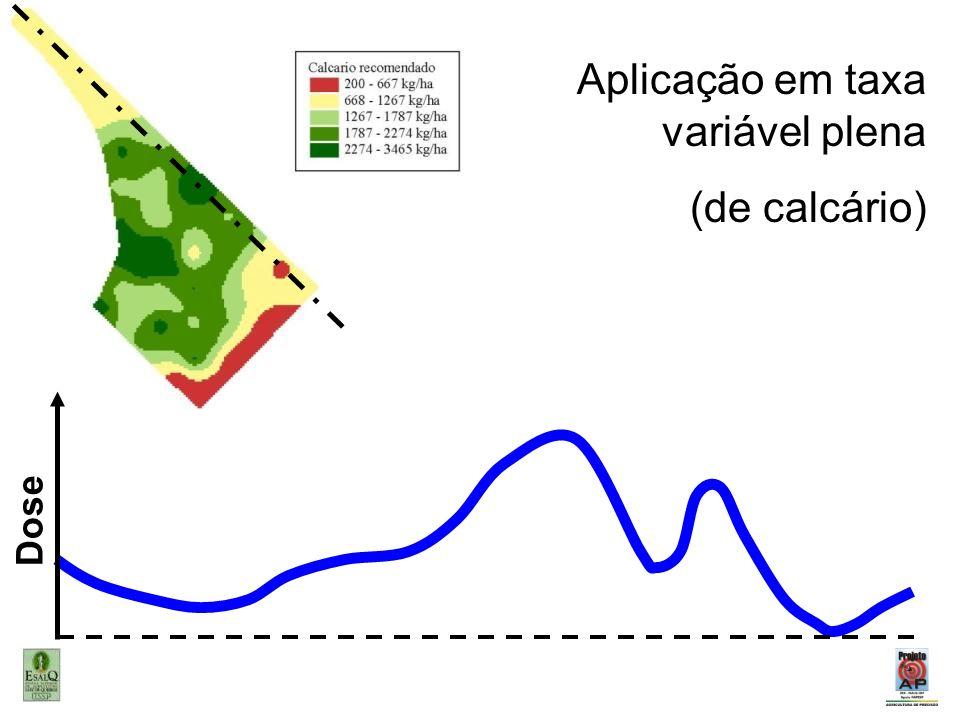Aplicação em taxa variável plena (de calcário)