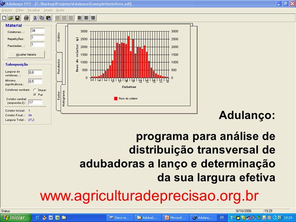 www.agriculturadeprecisao.org.br Adulanço: