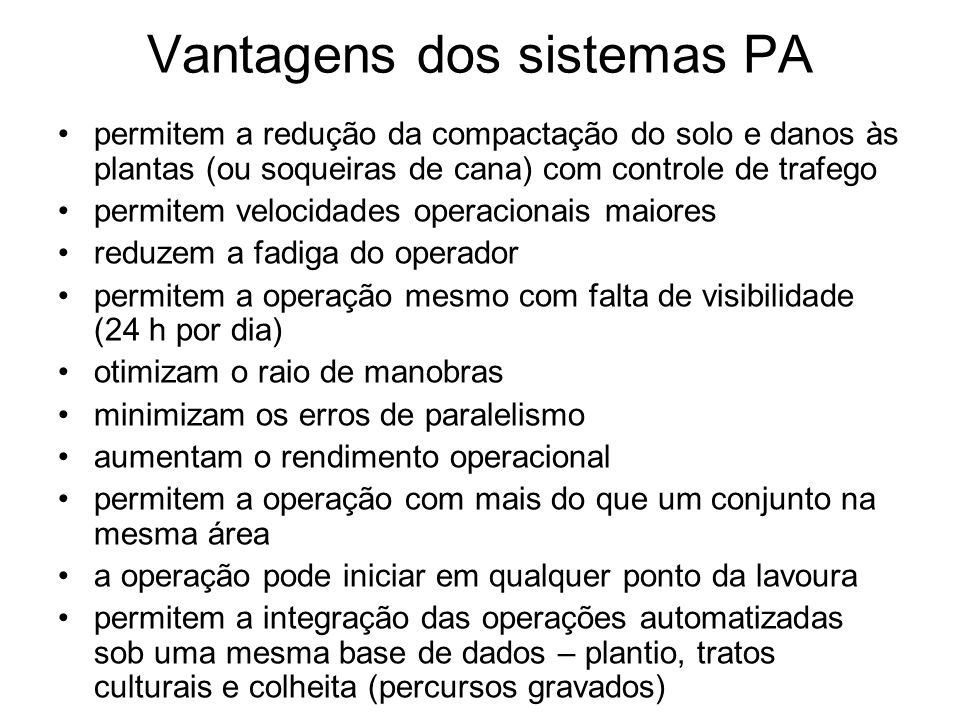 Vantagens dos sistemas PA