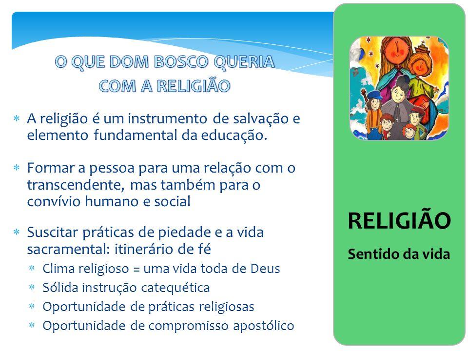 RELIGIÃO O QUE DOM BOSCO QUERIA COM A RELIGIÃO