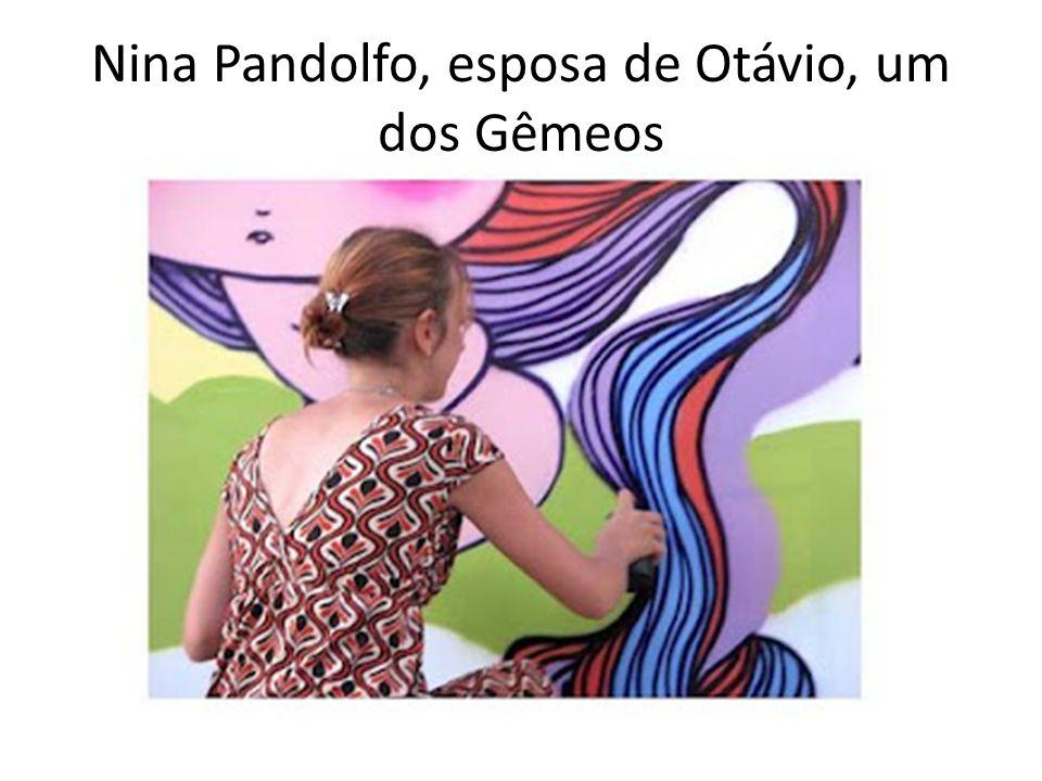 Nina Pandolfo, esposa de Otávio, um dos Gêmeos