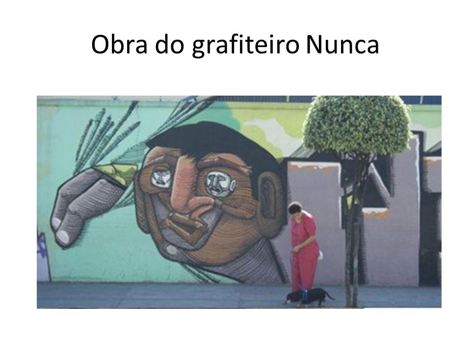 Obra do grafiteiro Nunca