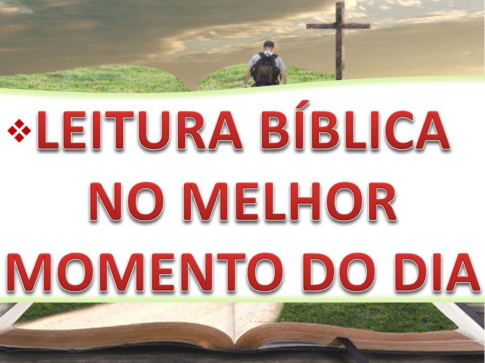 LEITURA BÍBLICA NO MELHOR MOMENTO DO DIA