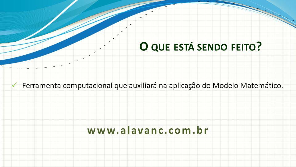 O que está sendo feito www.alavanc.com.br