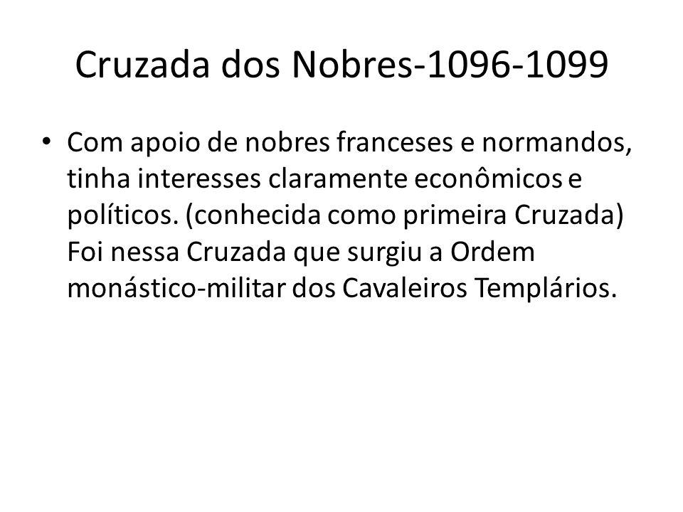 Cruzada dos Nobres-1096-1099