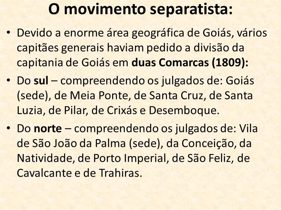 O movimento separatista: