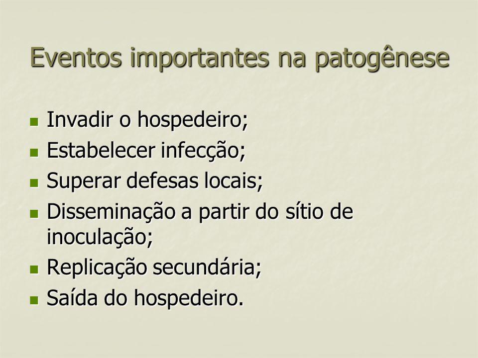 Eventos importantes na patogênese
