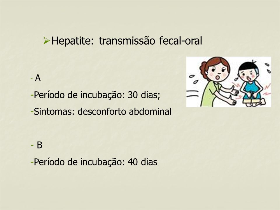 Hepatite: transmissão fecal-oral