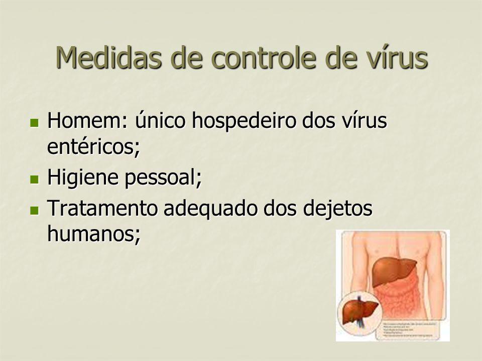 Medidas de controle de vírus