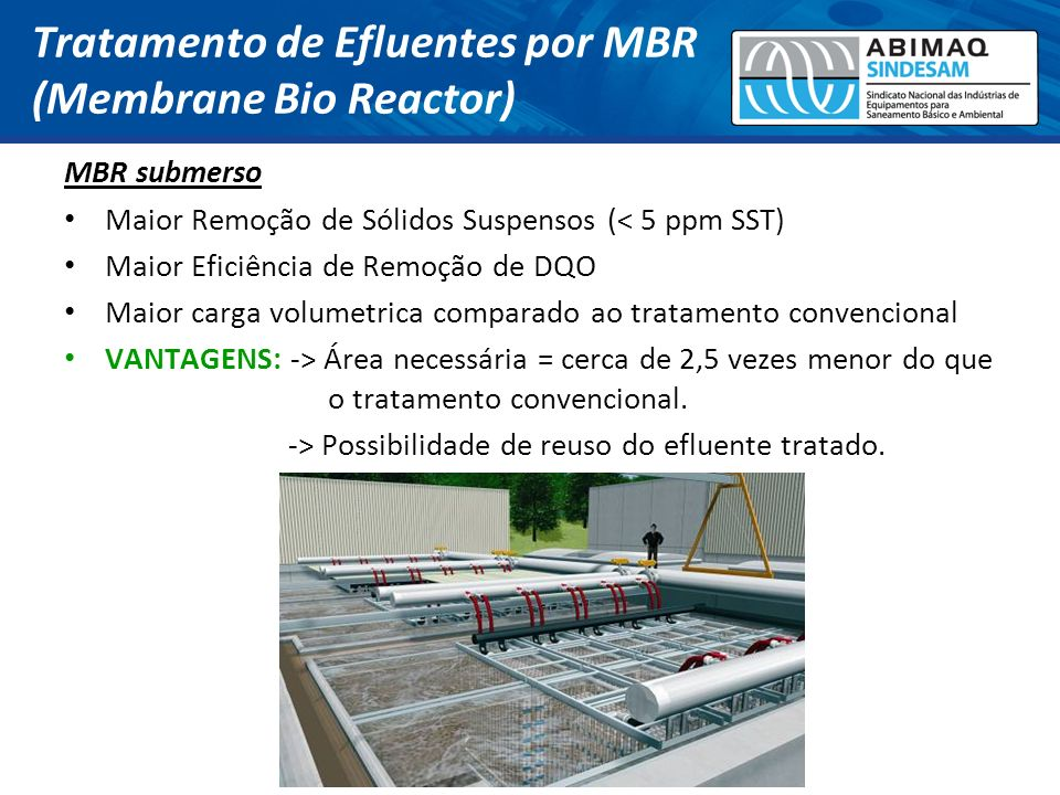 Tratamento de Efluentes por MBR (Membrane Bio Reactor)