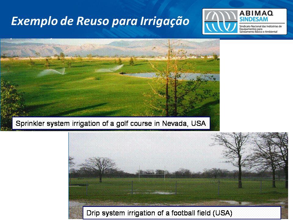 Exemplo de Reuso para Irrigação