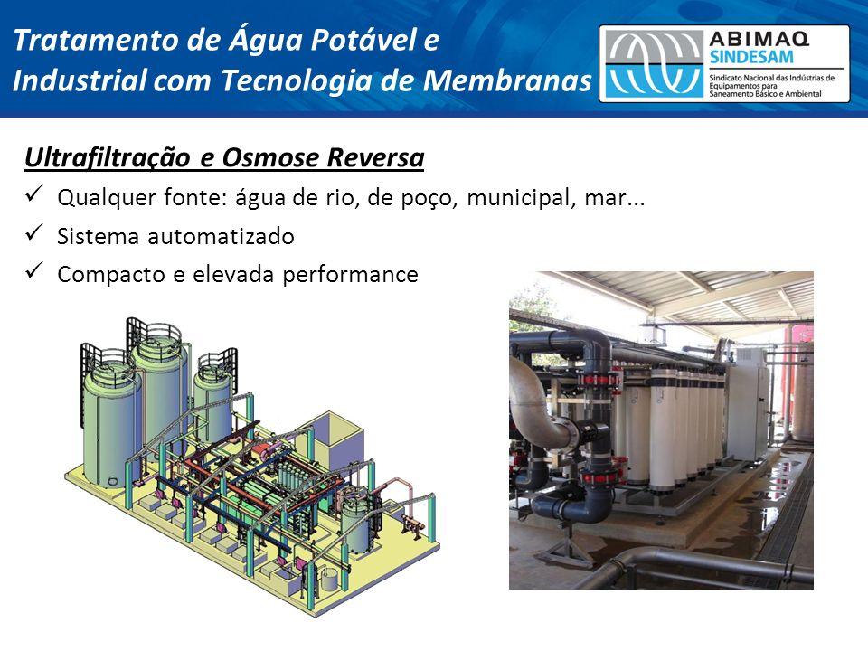Tratamento de Água Potável e Industrial com Tecnologia de Membranas