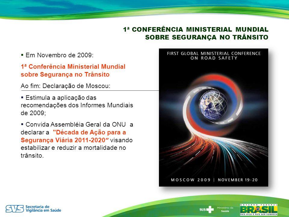1ª CONFERÊNCIA MINISTERIAL MUNDIAL SOBRE SEGURANÇA NO TRÂNSITO