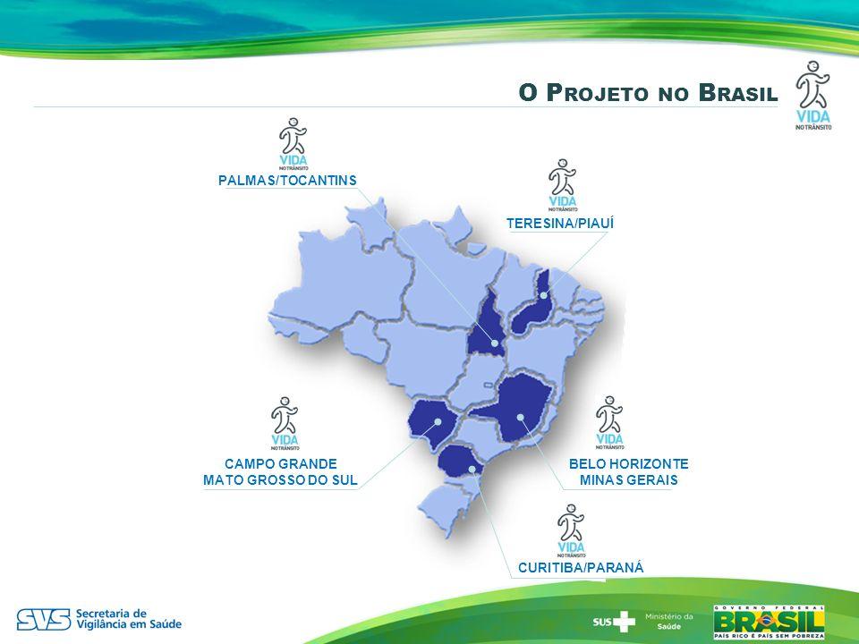 O Projeto no Brasil PALMAS/TOCANTINS TERESINA/PIAUÍ CAMPO GRANDE