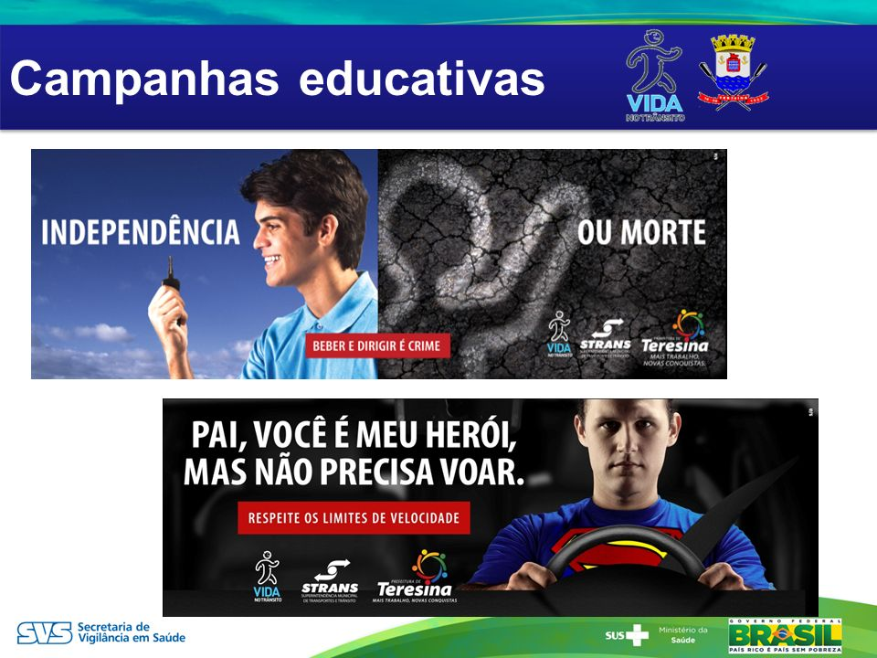 Campanhas educativas AÇÕES EDUCATIVAS
