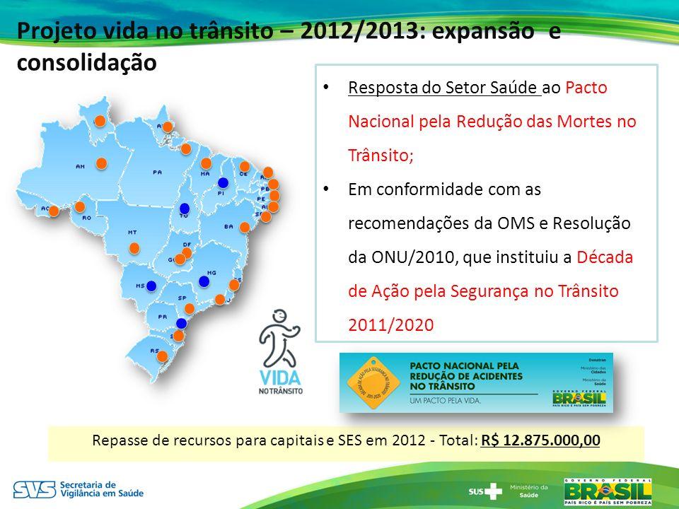 Projeto vida no trânsito – 2012/2013: expansão e consolidação