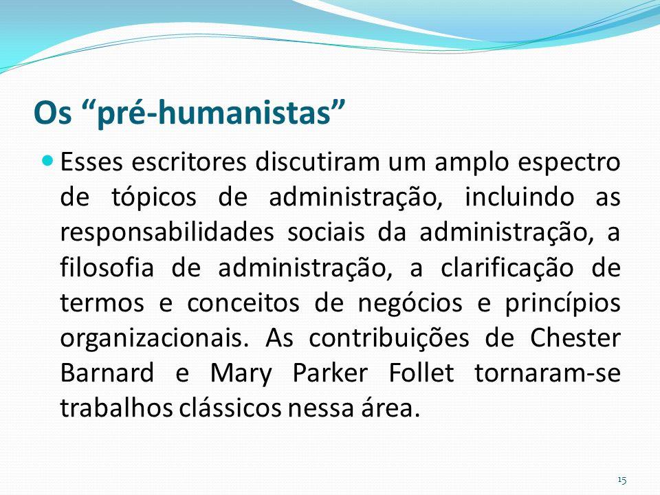 Os pré-humanistas