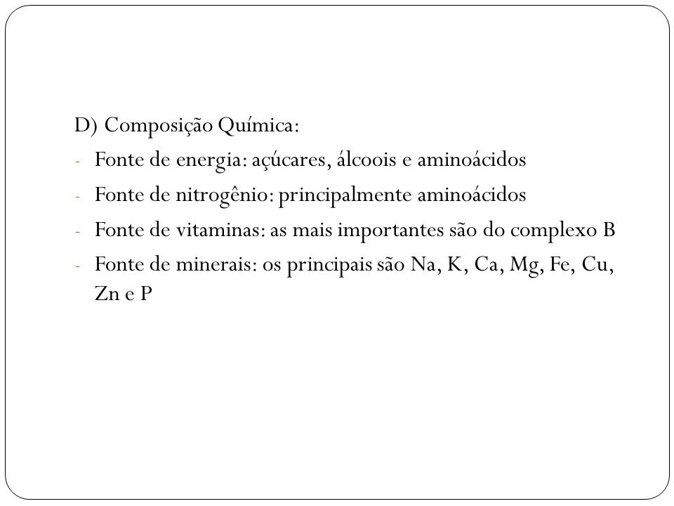 D) Composição Química: