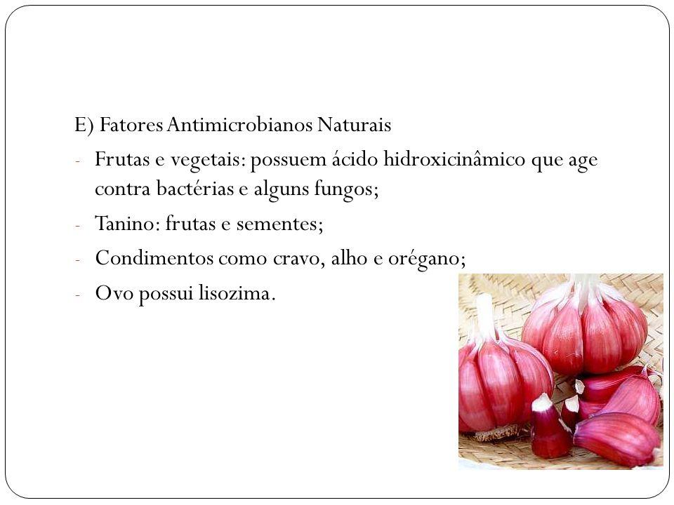 E) Fatores Antimicrobianos Naturais