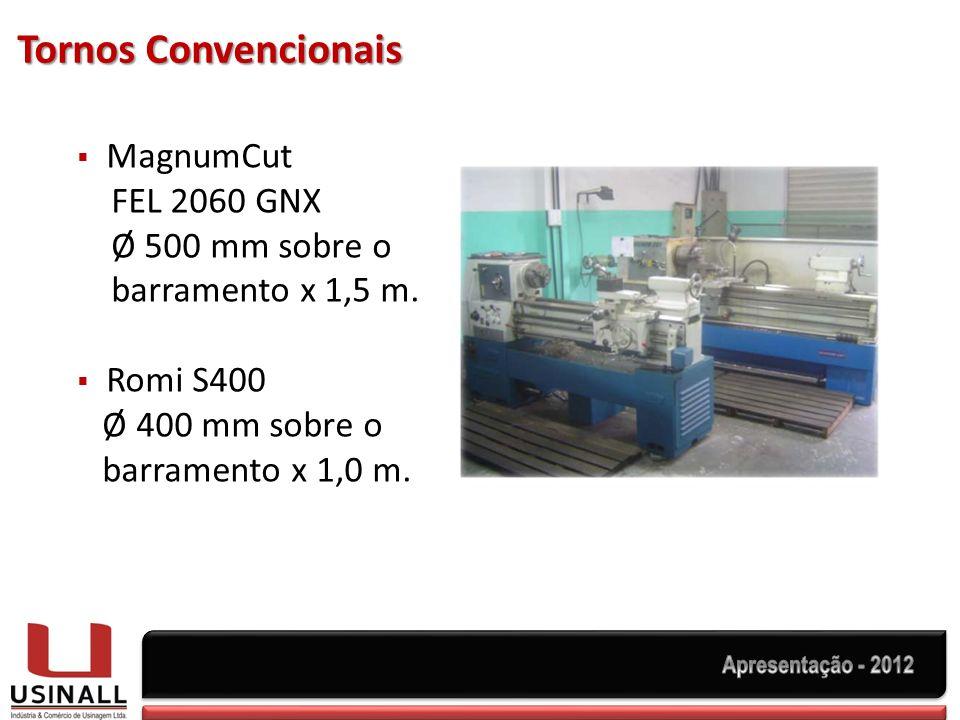 Tornos Convencionais MagnumCut FEL 2060 GNX Ø 500 mm sobre o